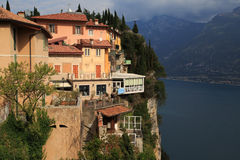 Pieve Tremosine. Old Town about the Gardasee Royalty Free Stock Photography