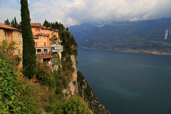 Pieve Tremosine. Old Town about the Gardasee Stock Images