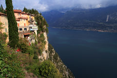 Pieve Tremosine. Old Town about the Gardasee Stock Photo