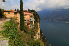 Pieve Tremosine. Old Town about the Gardasee Royalty Free Stock Image