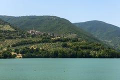 Pievefavera (marços, Itália) Fotografia de Stock