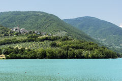 Pievefavera (marços, Itália) Fotografia de Stock Royalty Free