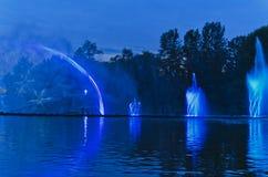 Śpiewacka fontanna Zdjęcia Royalty Free