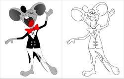 Śpiewacka mysz Obrazy Royalty Free
