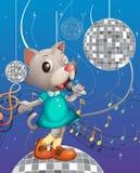Śpiewacki kot Obrazy Royalty Free