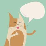 Śpiewacki kot Zdjęcia Royalty Free