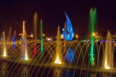 Śpiewackie fontanny w Olimpijskim parku Obrazy Royalty Free