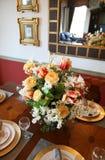 Pieza central colorida de la flor Fotografía de archivo libre de regalías