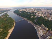 Pieza central de Kyiv Ucrania de la ciudad Imagenes de archivo