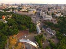Pieza central de Kyiv Ucrania de la ciudad Fotos de archivo libres de regalías