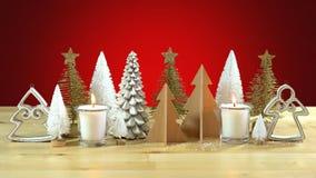 Pieza central de los árboles de navidad Fotos de archivo