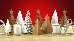 Pieza central de los árboles de navidad Imágenes de archivo libres de regalías