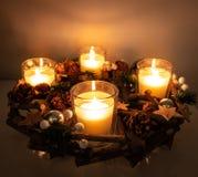 Pieza central rústica de la Navidad imágenes de archivo libres de regalías