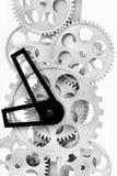 Pieza de engranajes en un reloj mecánico Imagen de archivo