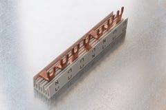 Pieza de la barra de distribución eléctrica de la conexión en un estuche de plástico Imagen de archivo libre de regalías