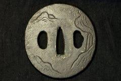 Pieza de la espada vieja del samurai imagenes de archivo