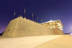Pieza de la pared de la vista daming de la noche del palacio Fotos de archivo libres de regalías