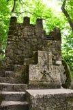 Pieza de la pared de un castillo viejo Foto de archivo libre de regalías