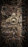 Pieza de la puerta oxidada del hierro Imagen de archivo libre de regalías