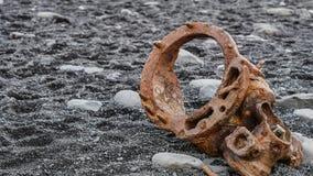 Pieza de la ruina de Islandia foto de archivo