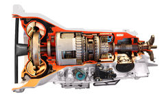 Pieza de la transmisión automática del coche Foto de archivo libre de regalías