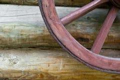 Pieza de madera de la rueda Fotografía de archivo