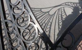 Pieza de un reloj de sol hecho del metal Fotos de archivo libres de regalías
