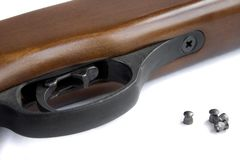 Pieza de un rifle neumático Fotografía de archivo libre de regalías