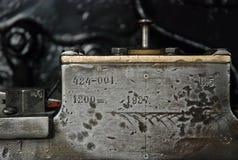 Pieza de una máquina vieja Imágenes de archivo libres de regalías
