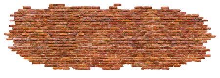 Pieza de una pared de ladrillo, aislada en el fondo blanco Imagen de archivo libre de regalías