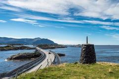Pieza del camino de Océano Atlántico en Noruega fotografía de archivo