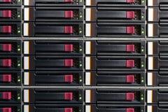 Pieza del estante del servidor Imágenes de archivo libres de regalías