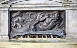 Pieza del monumento de la reina Victoria fotografía de archivo