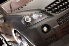 Pieza del nuevo coche negro Foto de archivo
