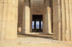 Pieza del templo de Hephaestus en Atenas imágenes de archivo libres de regalías