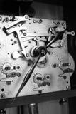 Pieza mecánica del reloj antiguo Fotografía de archivo