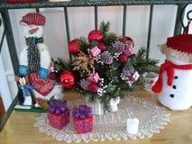 Piezas centrales del muñeco de nieve Fotos de archivo