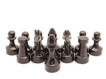 Piezas de ajedrez Imagen de archivo libre de regalías