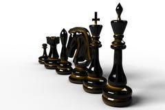 Piezas de ajedrez Fotografía de archivo