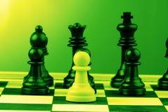 Piezas de ajedrez Imágenes de archivo libres de regalías