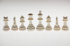 Piezas de ajedrez blancas Fotos de archivo