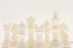 Piezas de ajedrez blancas Imagenes de archivo