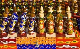 Piezas de ajedrez con diseño original Fotografía de archivo libre de regalías