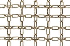 Piezas de cadena del metal Fotografía de archivo libre de regalías
