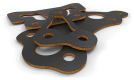 Piezas de fibra de carbono con base de madera de balsa Imágenes de archivo libres de regalías