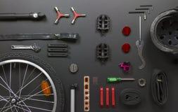 Piezas de la bicicleta Imagenes de archivo