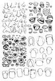 Piezas de la cara Imagenes de archivo