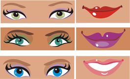 Piezas de la cara de Ladys Imagen de archivo