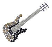 Piezas de la guitarra Fotografía de archivo libre de regalías