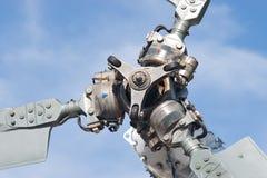 Piezas de la lámina de rotor del helicóptero foto de archivo